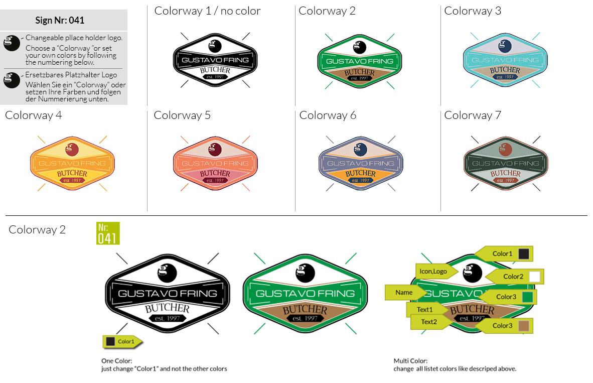 041 Make Look Branding Logo Smal Colorways 001
