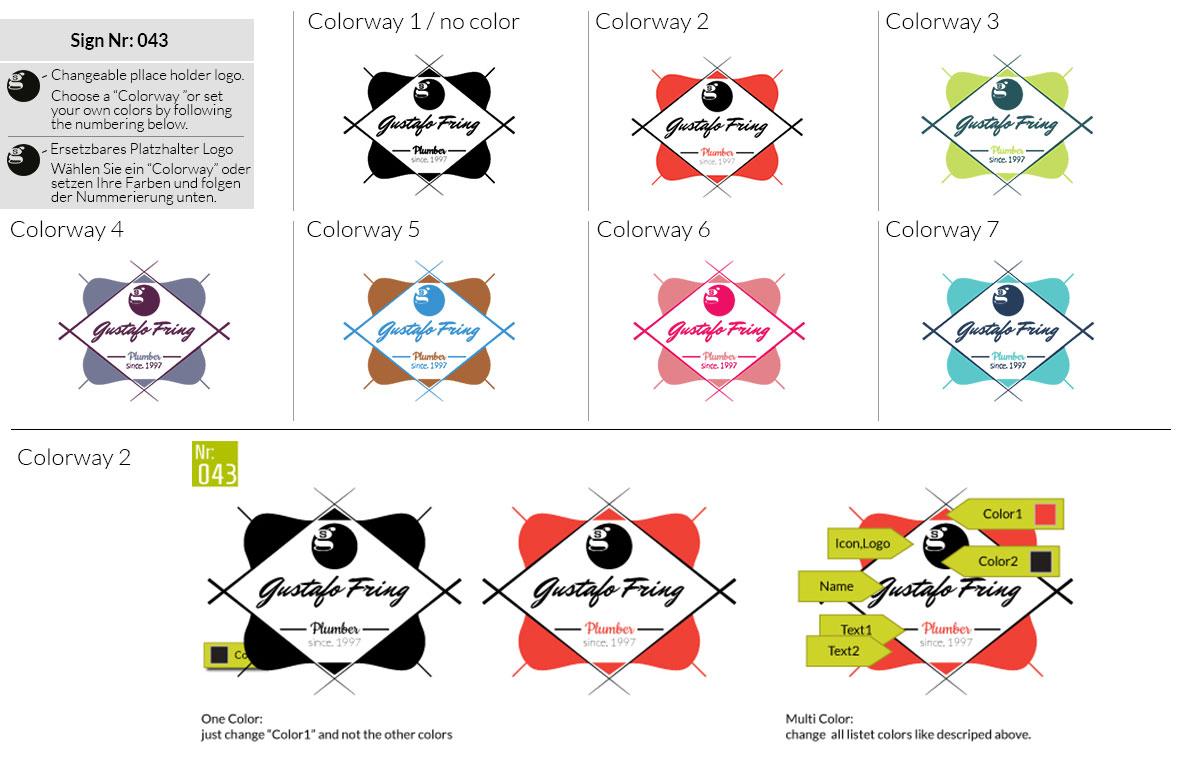 043 Make Look Branding Logo Smal Colorways 001
