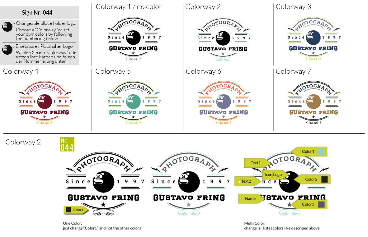 044 Make Look Branding Logo Smal Colorways 001