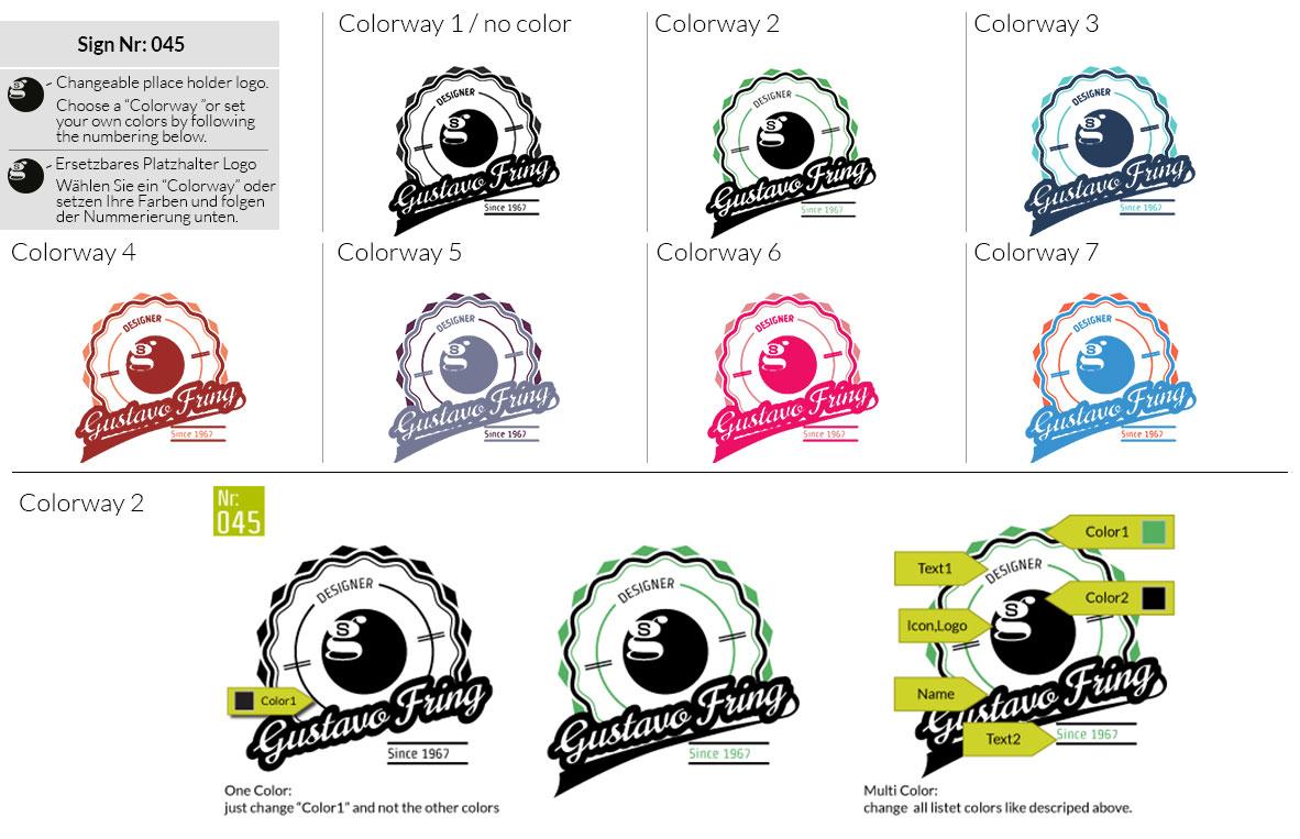 045 Make Look Branding Logo Smal Colorways 001
