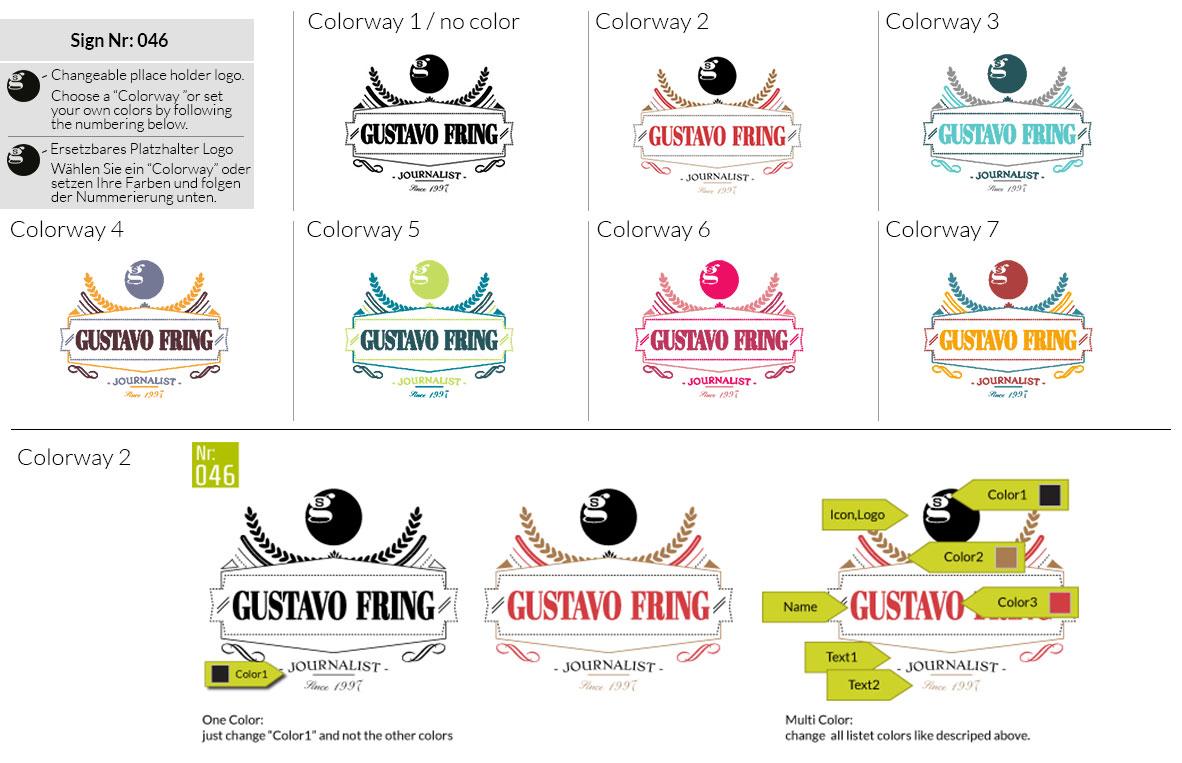 046 Make Look Branding Logo Smal Colorways 001