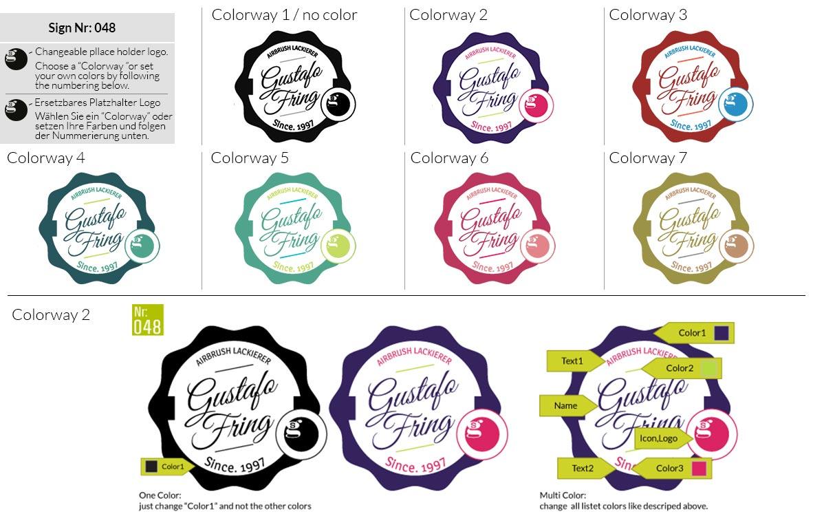 048 Make Look Branding Logo Smal Colorways 001