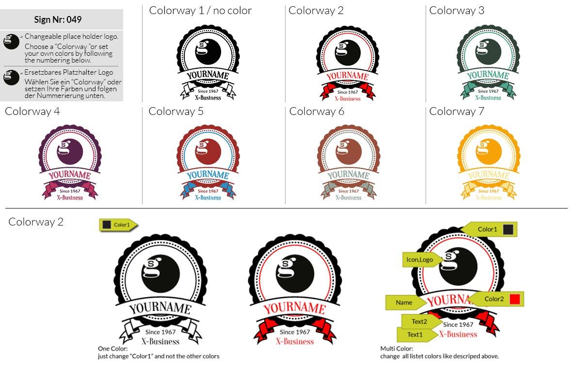 049 Make Look Branding Logo Smal Colorways 001