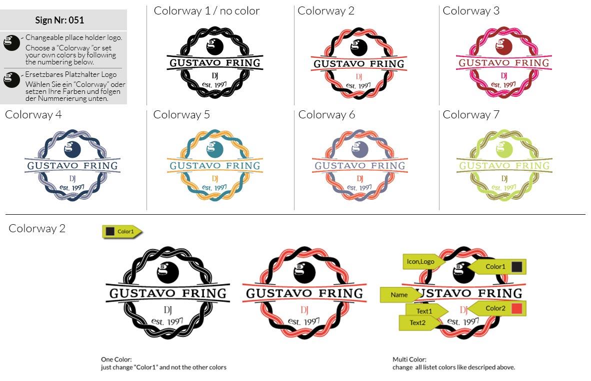 051 Make Look Branding Logo Smal Colorways 001