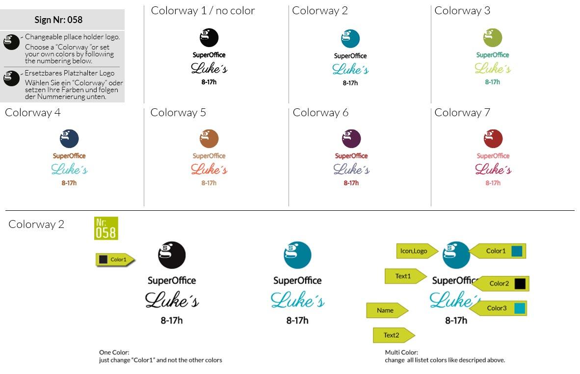 058 Make Look Branding Logo Smal Colorways 001