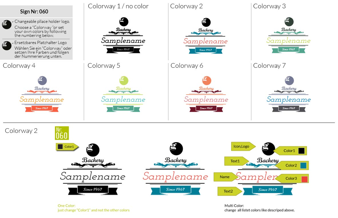060 Make Look Branding Logo Smal Colorways 001
