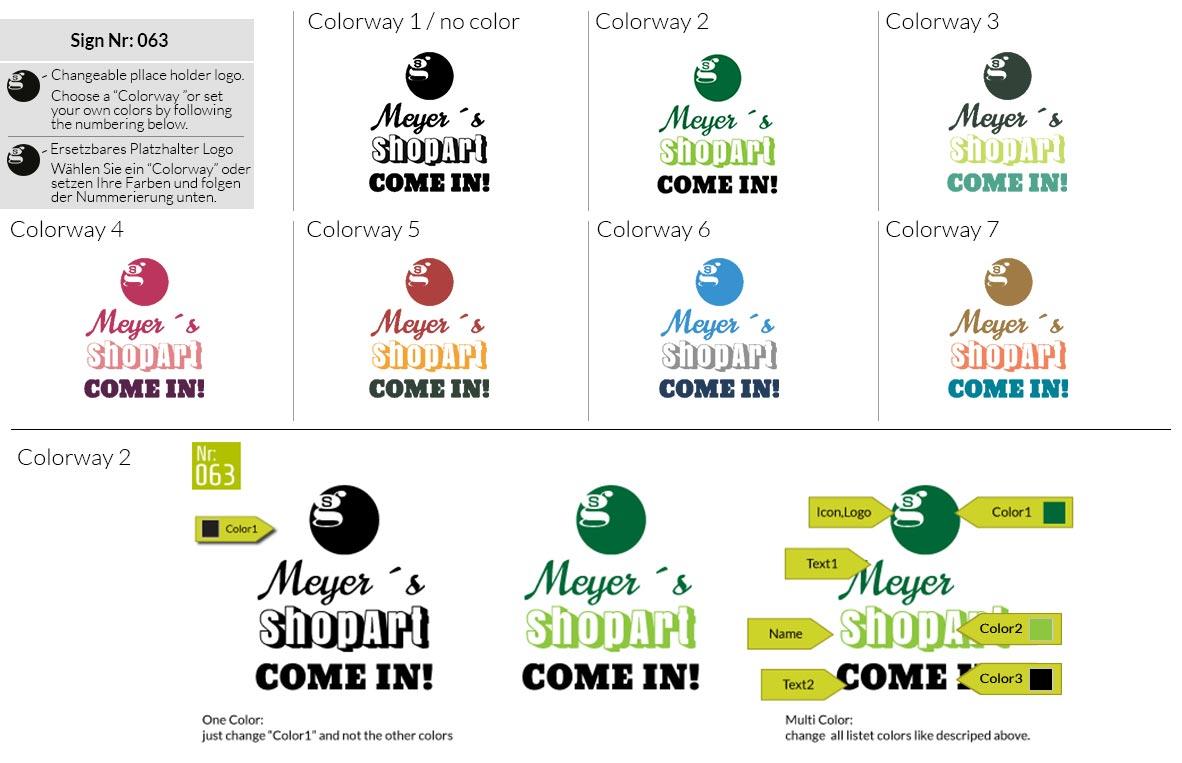 063 Make Look Branding Logo Smal Colorways 001