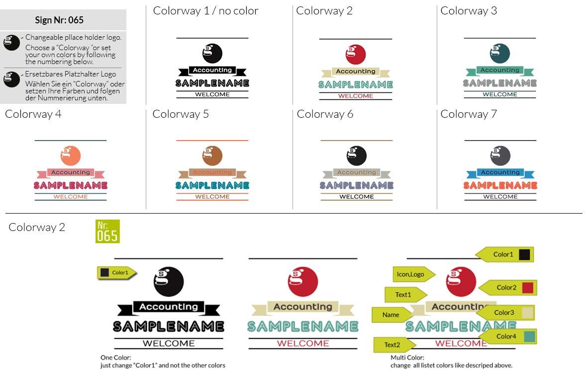 065 Make Look Branding Logo Smal Colorways 001