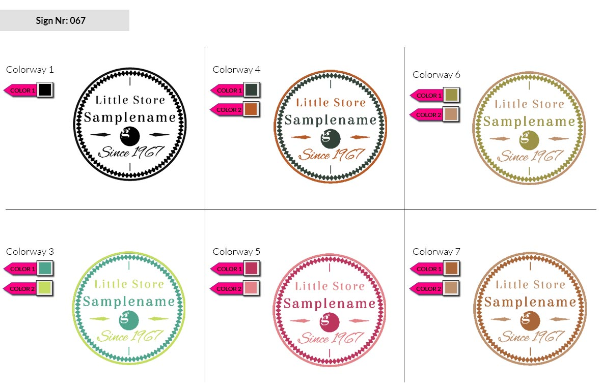 067 Make Look Branding Logo Smal Colorways 002
