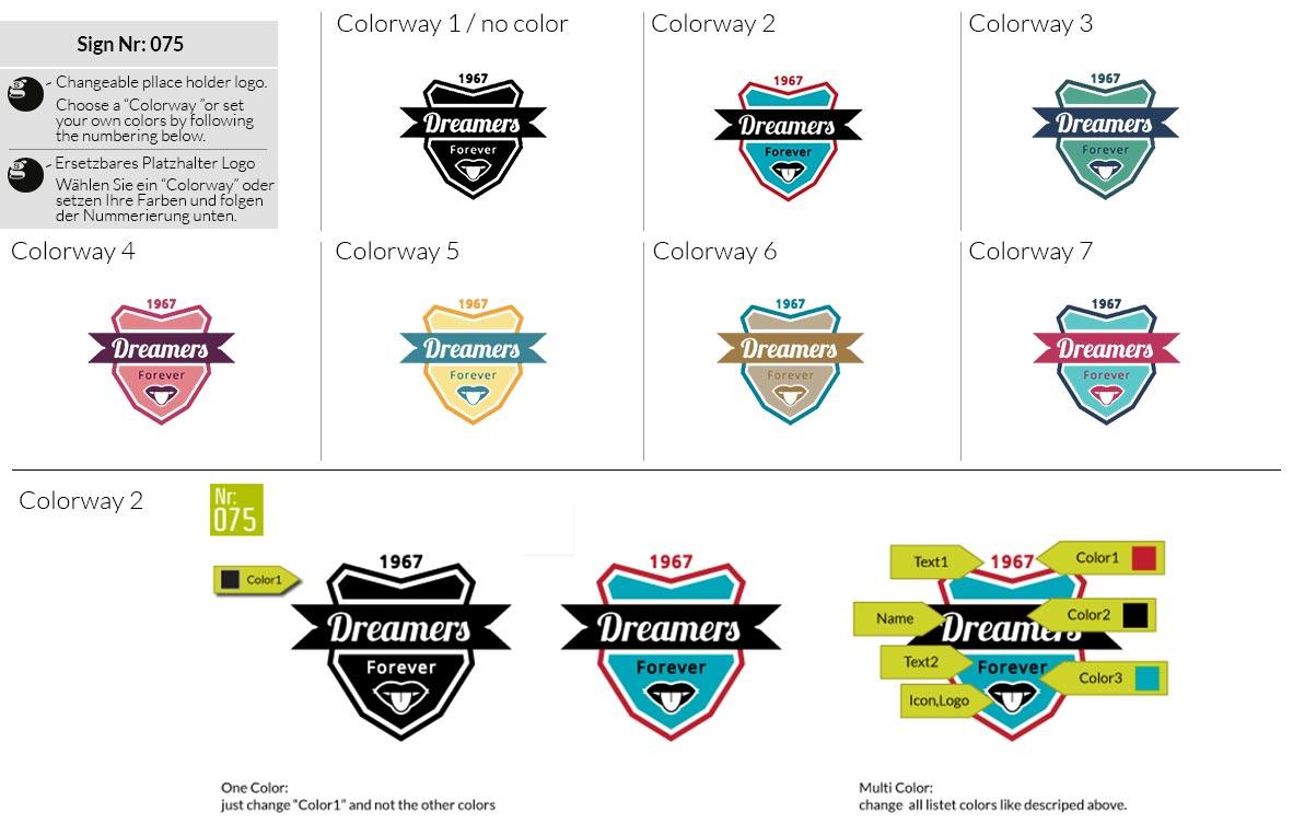 075 Make Look Branding Logo Smal Colorways 001