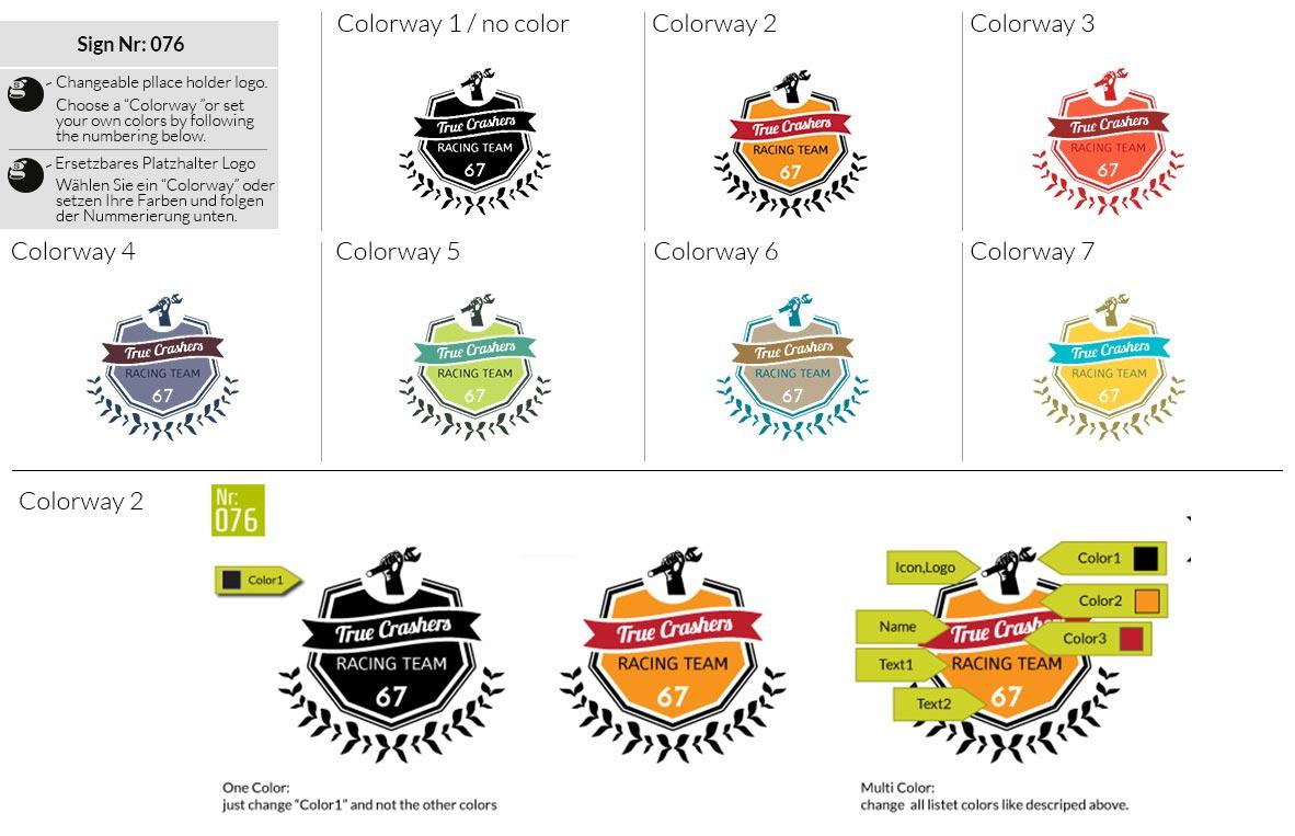 076 Make Look Branding Logo Smal Colorways 001
