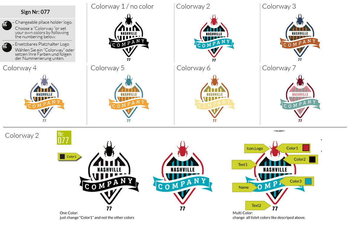 077 Make Look Branding Logo Smal Colorways 001