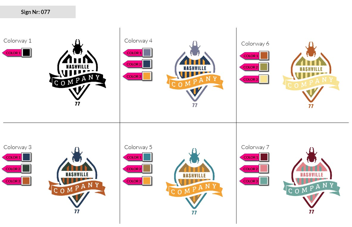077 Make Look Branding Logo Smal Colorways 002