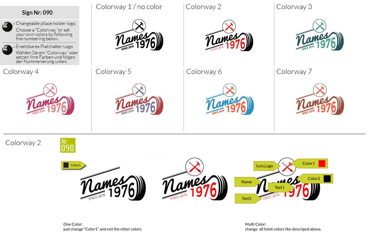 090 Make Look Branding Logo Smal Colorways 001