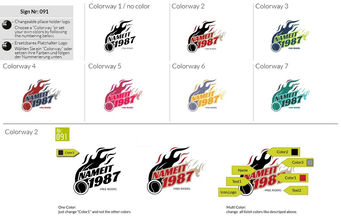 091 Make Look Branding Logo Smal Colorways 001
