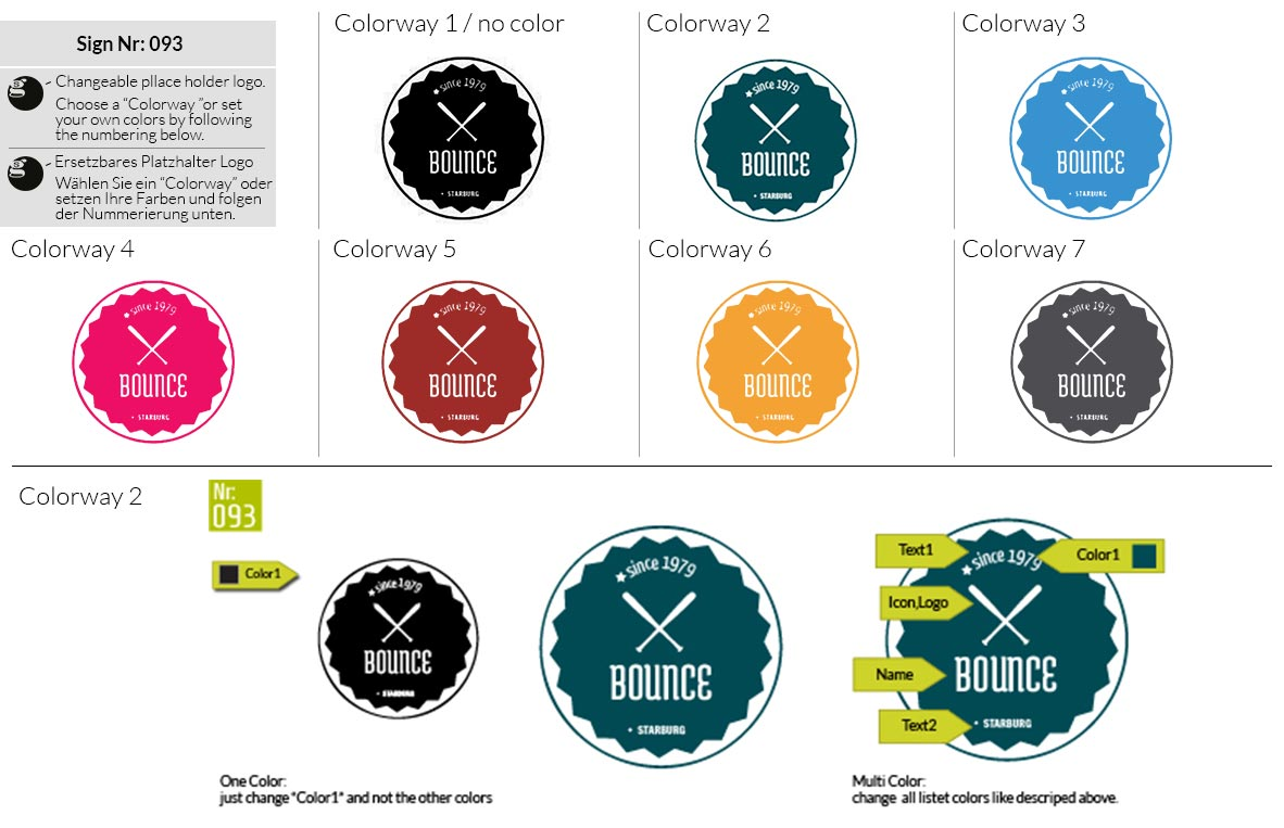 093 Make Look Branding Logo Smal Colorways 001