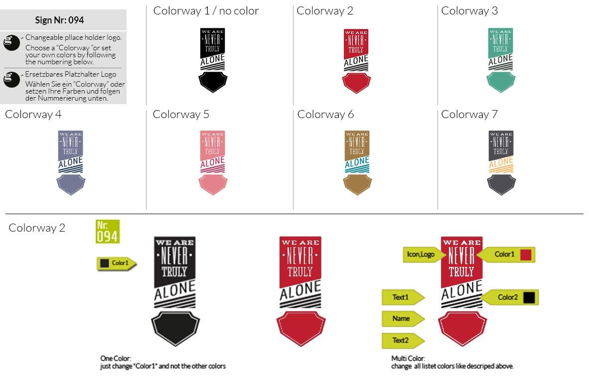 094 Make Look Branding Logo Smal Colorways 001