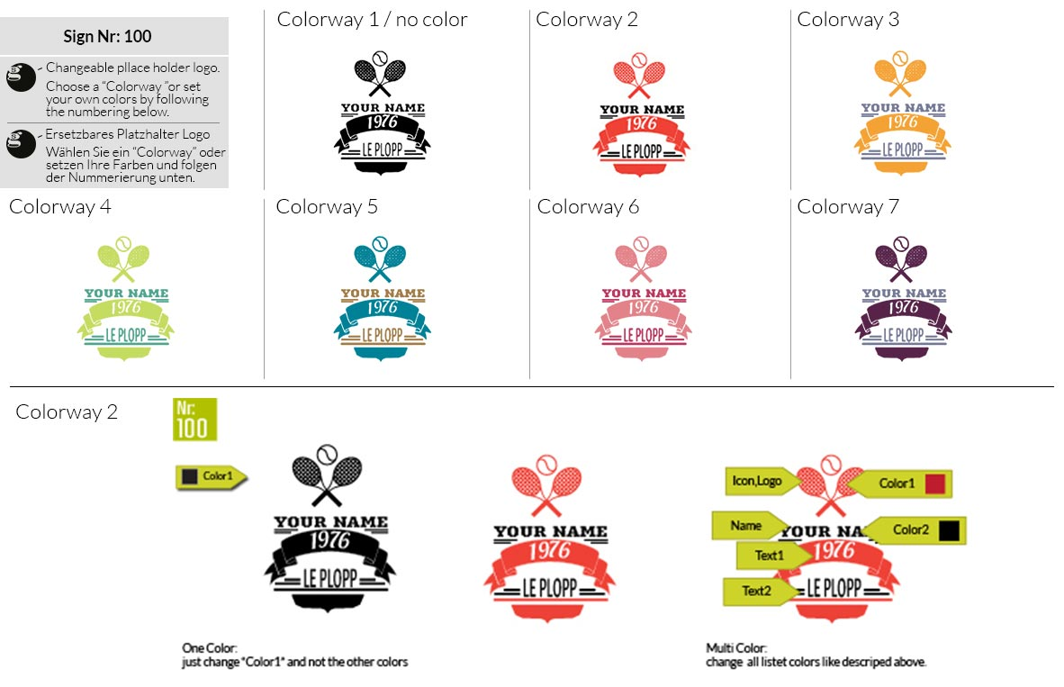 100 Make Look Branding Logo Smal Colorways 001