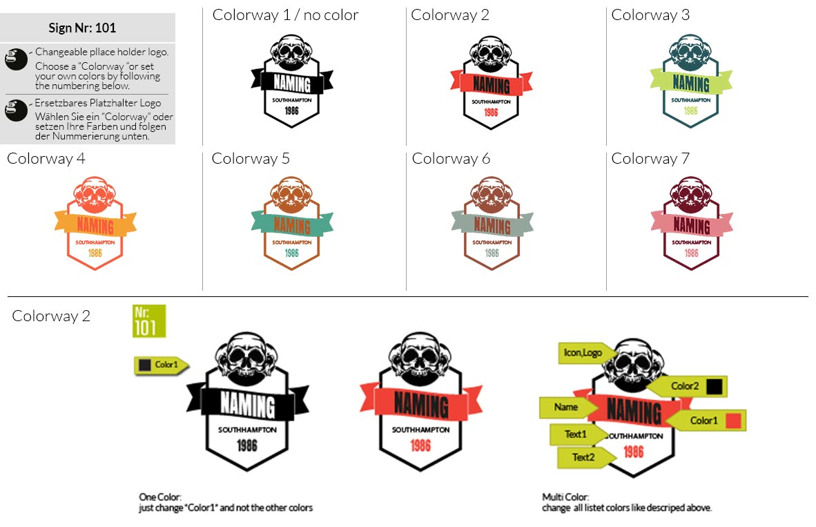 101 Make Look Branding Logo Smal Colorways 001