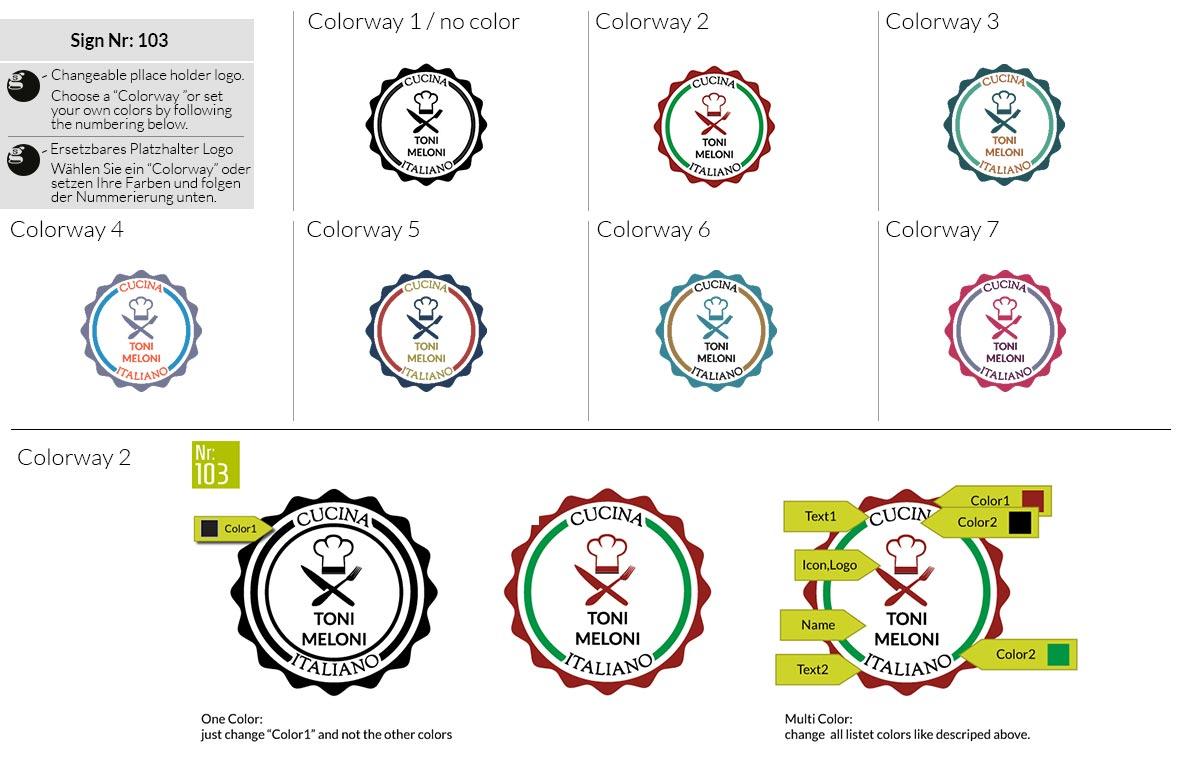 103 Make Look Branding Logo Smal Colorways 001