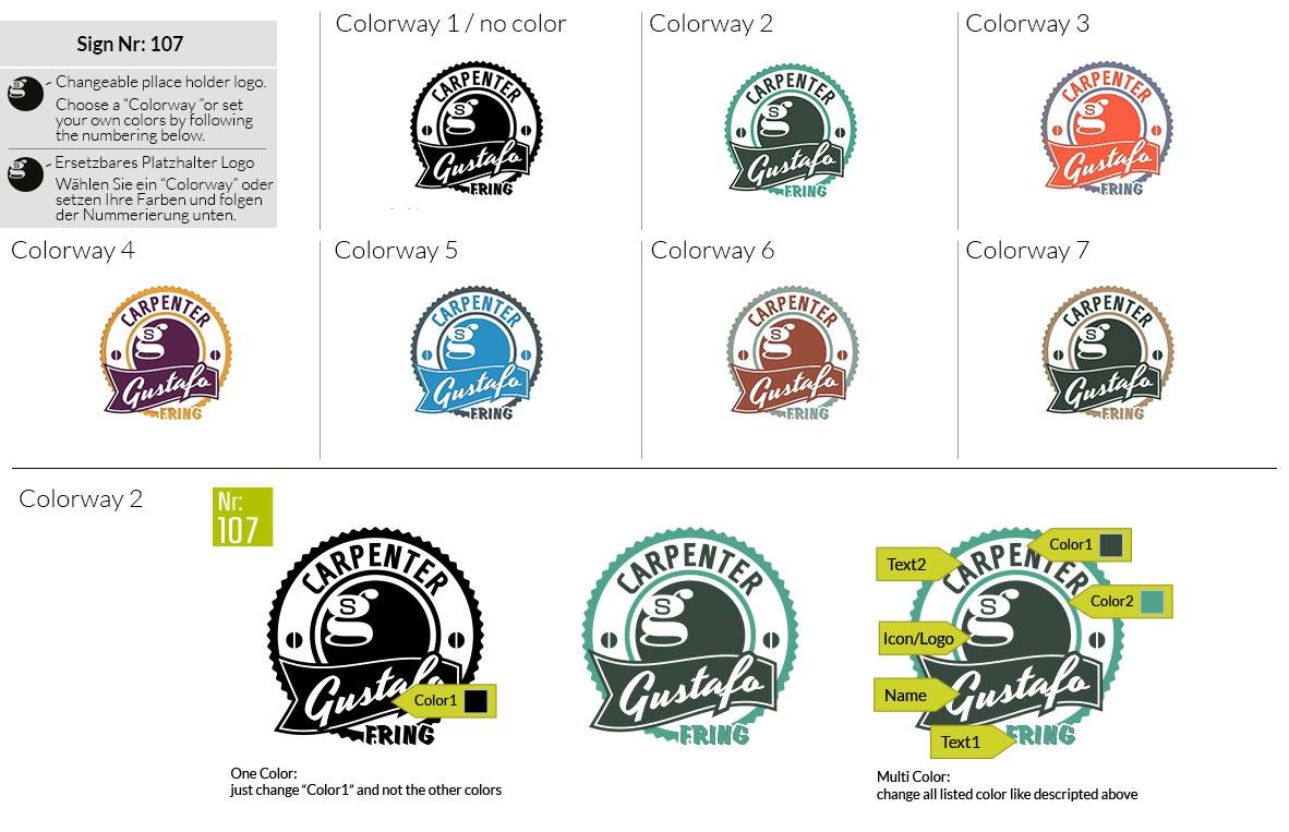 107 Make Look Branding Logo Smal Colorways 001