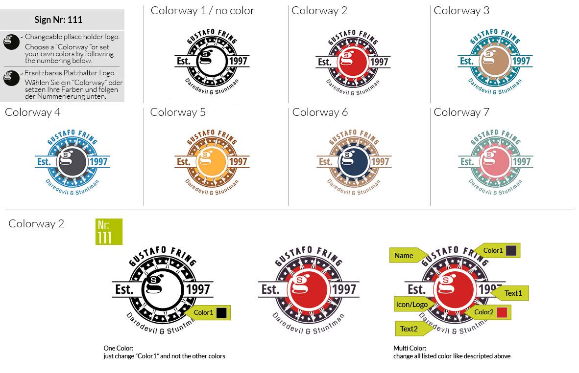 111 Make Look Branding Logo Smal Colorways 001