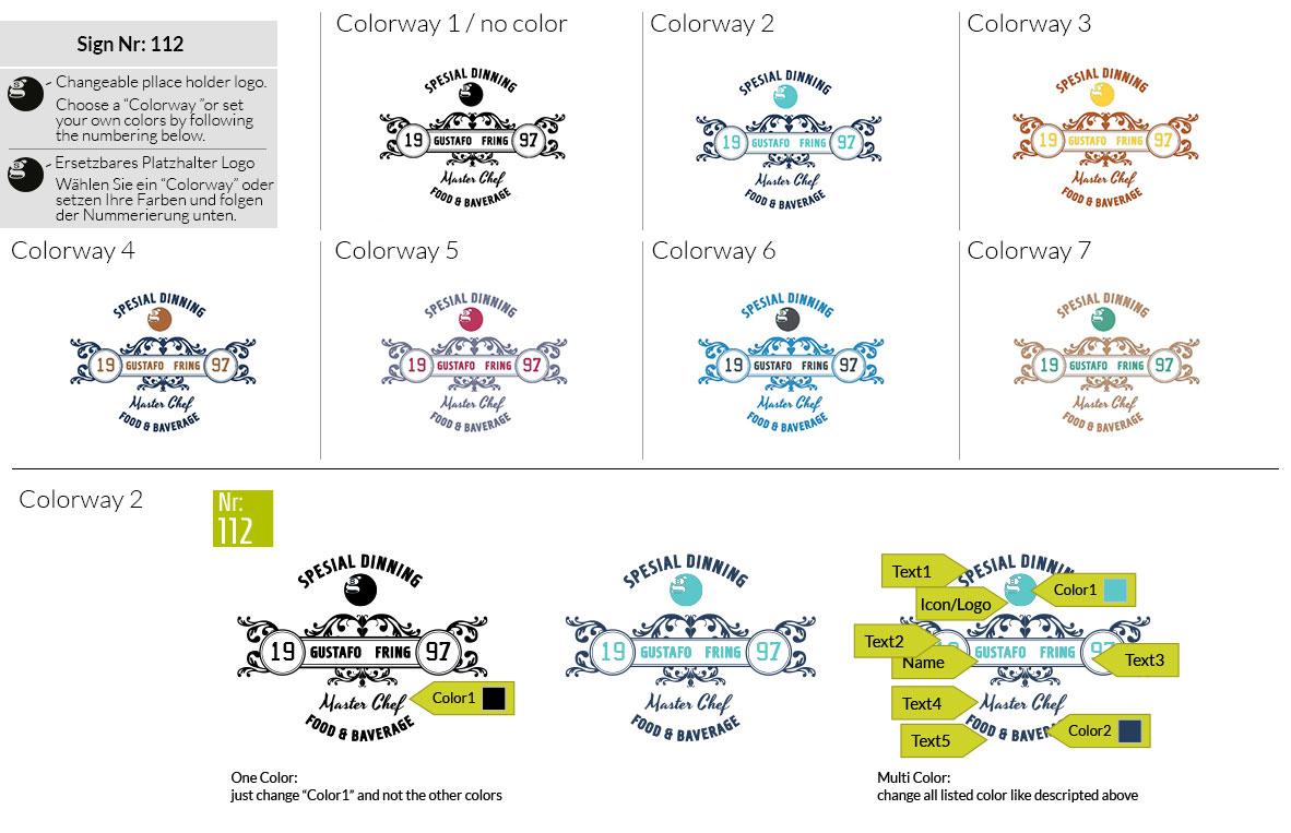112 Make Look Branding Logo Smal Colorways 001