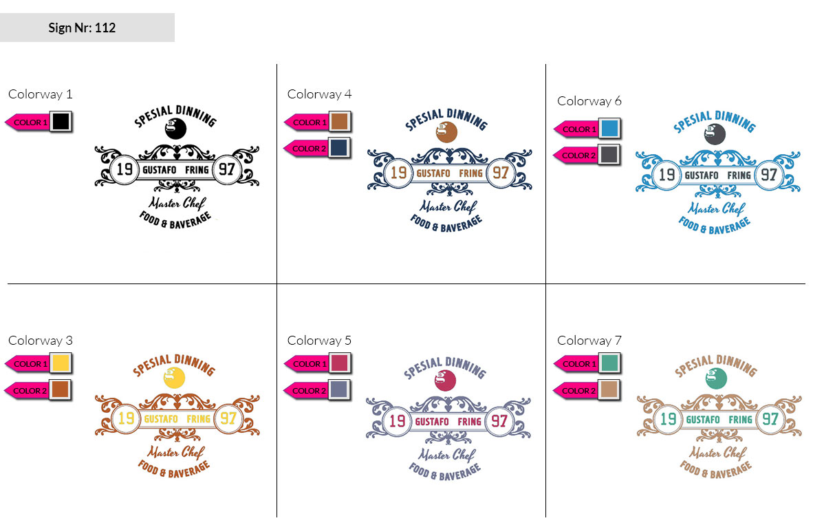 112 Make Look Branding Logo Smal Colorways 002