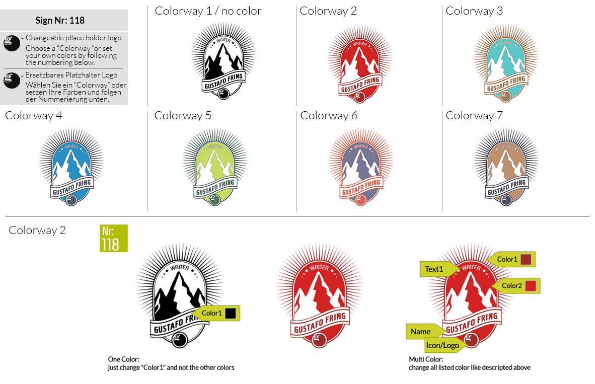 118 Make Look Branding Logo Smal Colorways 001