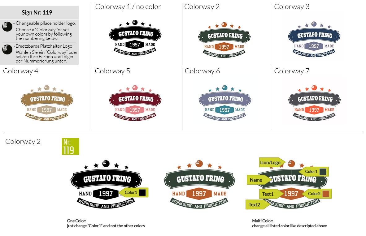 119 Make Look Branding Logo Smal Colorways 001