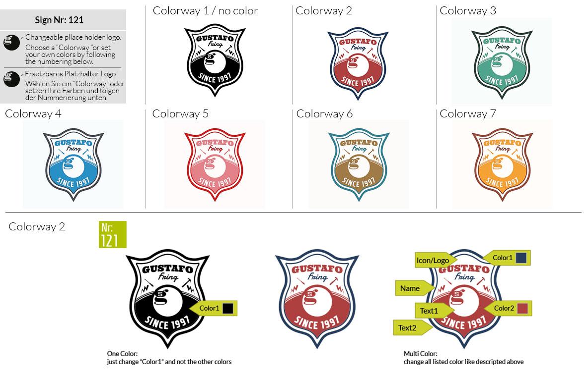 121 Make Look Branding Logo Smal Colorways 001