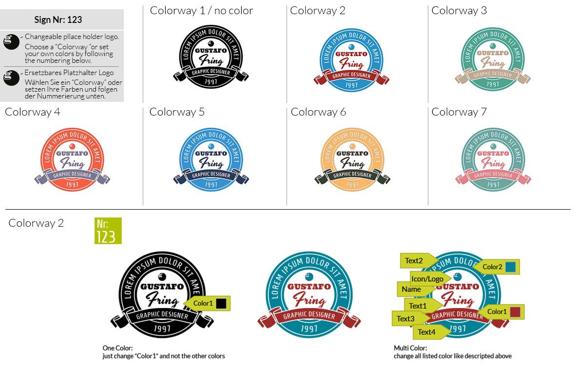 123 Make Look Branding Logo Smal Colorways 001