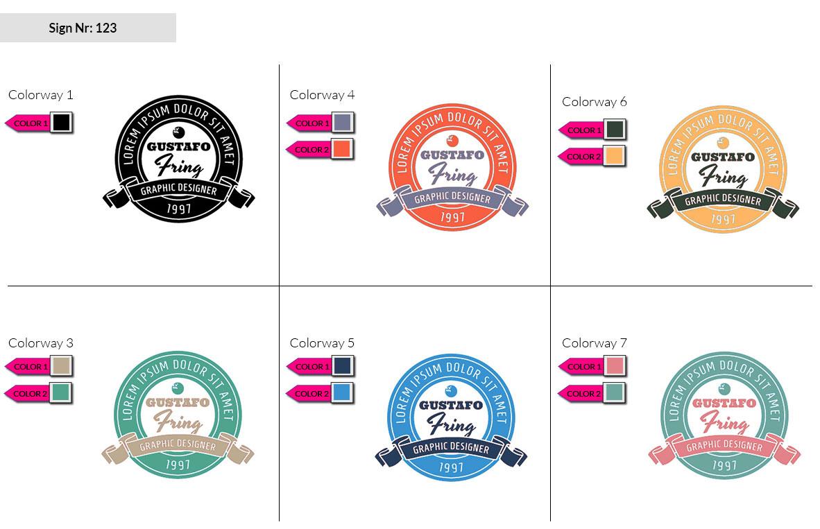 123 Make Look Branding Logo Smal Colorways 002