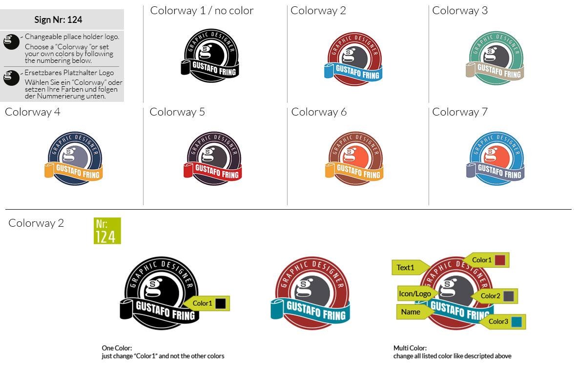 124 Make Look Branding Logo Smal Colorways 001