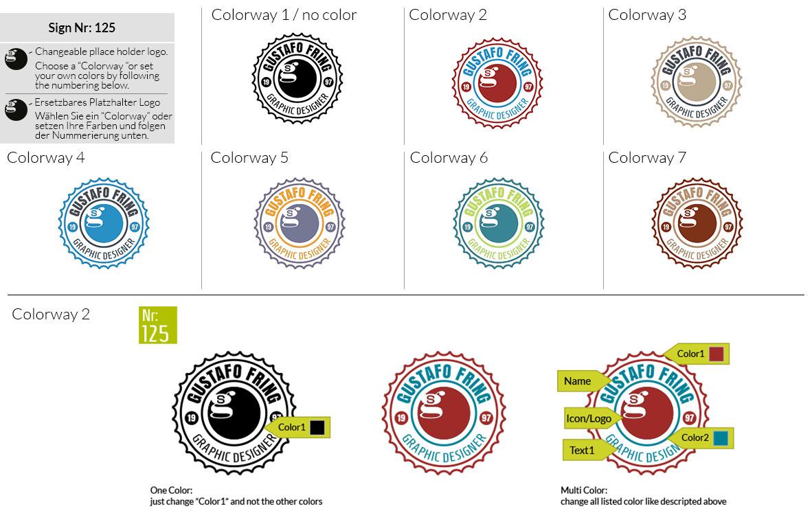 125 Make Look Branding Logo Smal Colorways 001