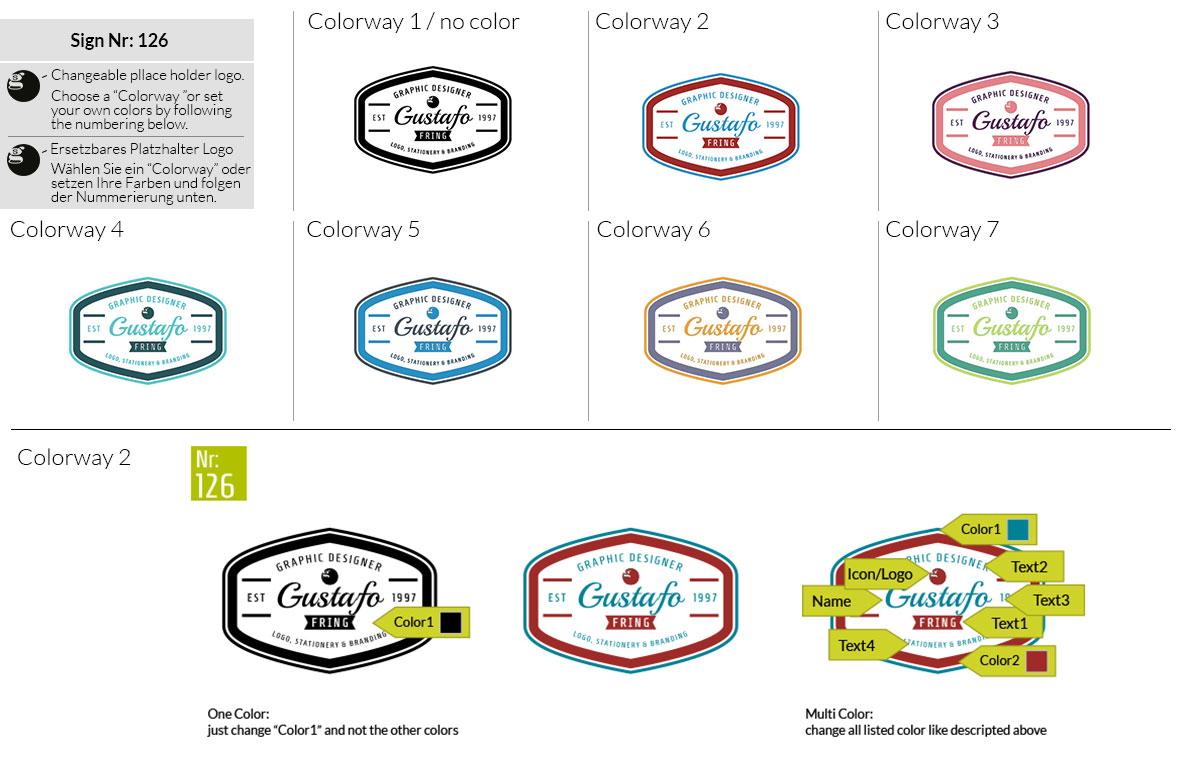 126 Make Look Branding Logo Smal Colorways 001
