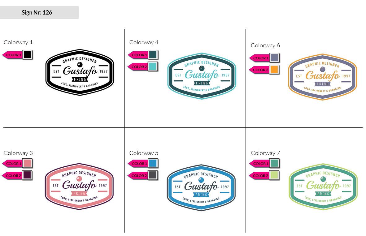 126 Make Look Branding Logo Smal Colorways 002