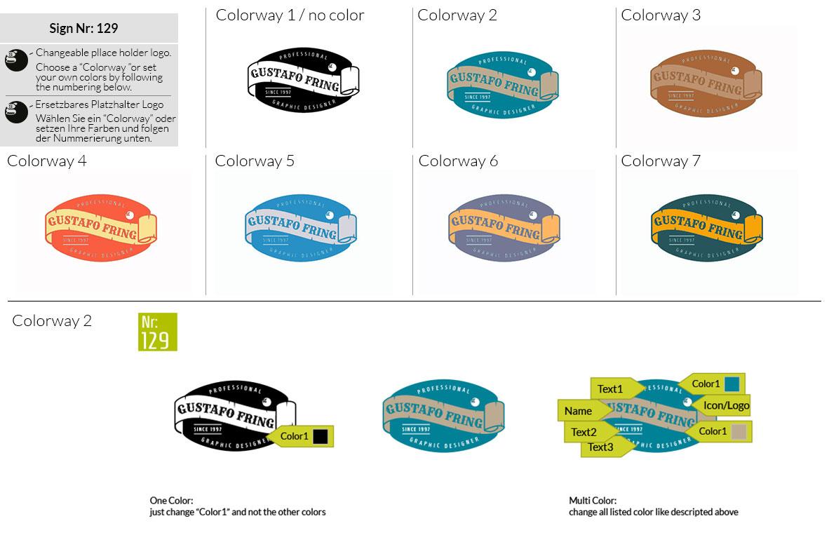 129 Make Look Branding Logo Smal Colorways 001