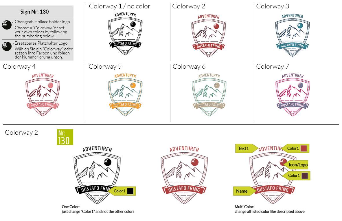 130 Make Look Branding Logo Smal Colorways 001