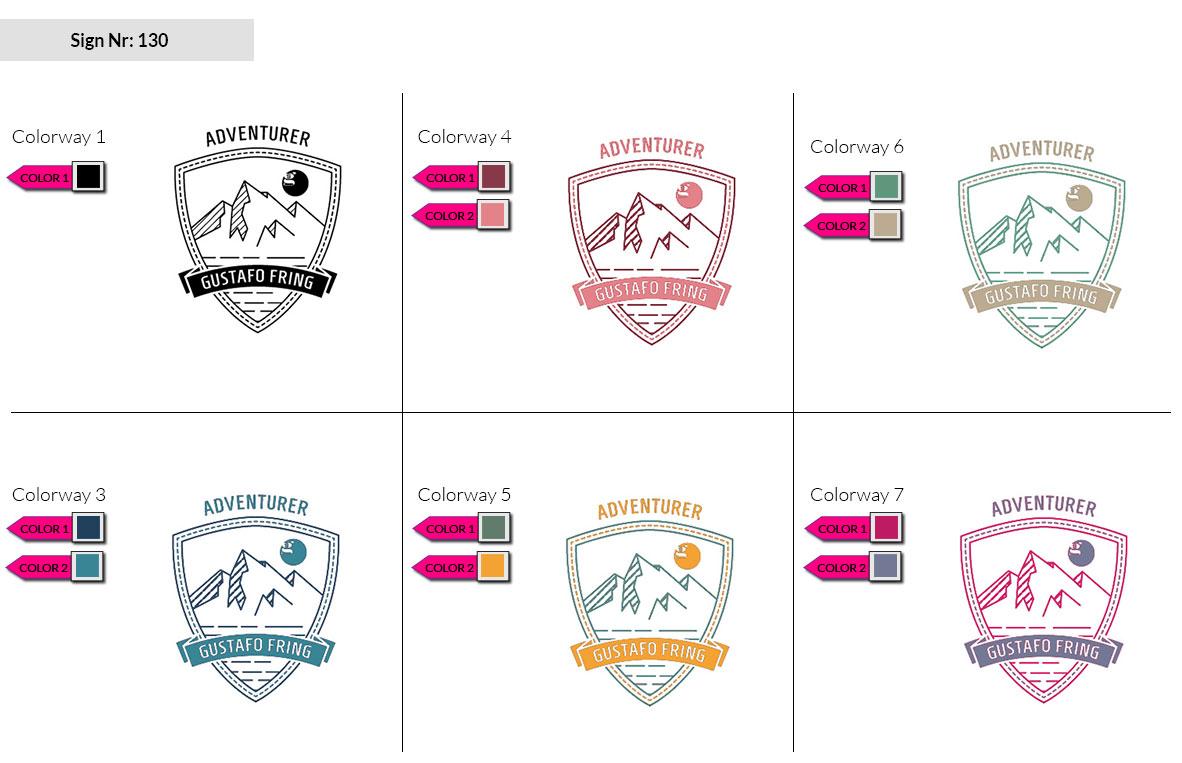 130 Make Look Branding Logo Smal Colorways 002