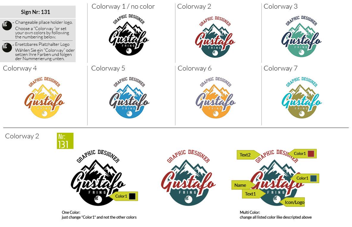 131 Make Look Branding Logo Smal Colorways 001
