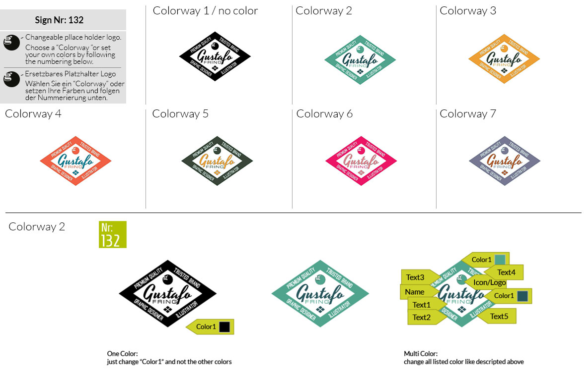 132 Make Look Branding Logo Smal Colorways 001