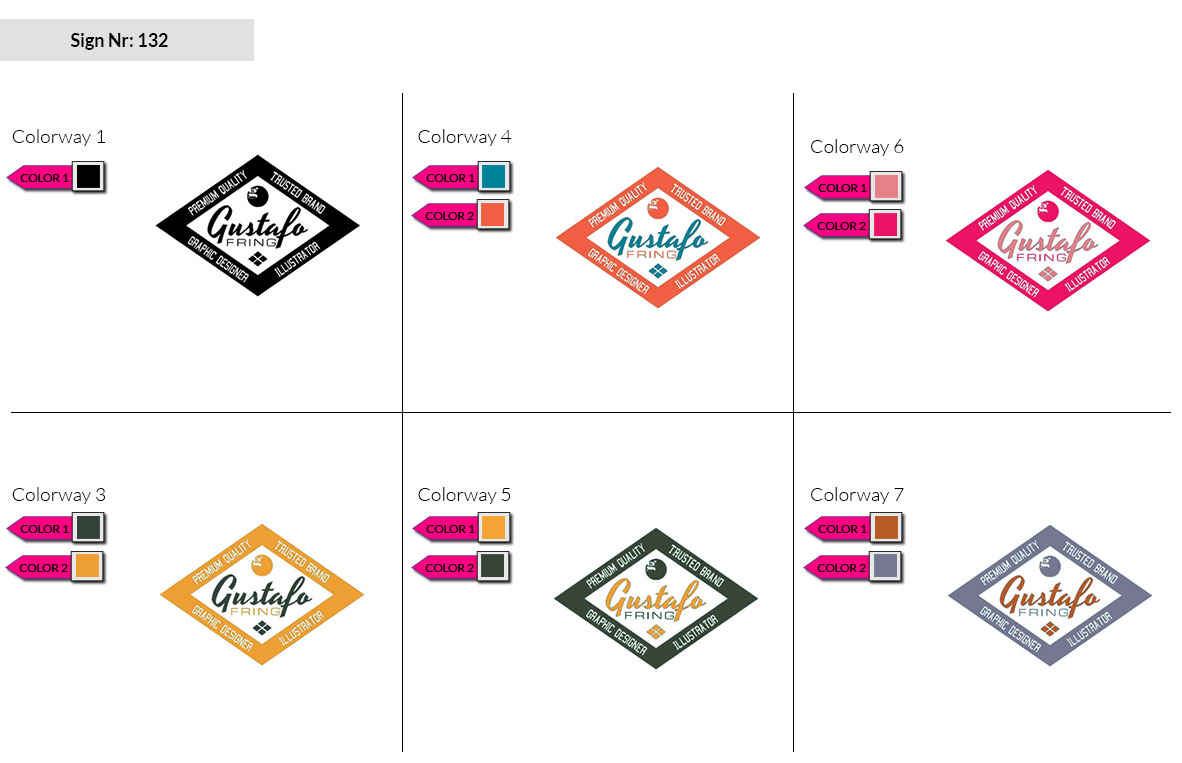 132 Make Look Branding Logo Smal Colorways 002