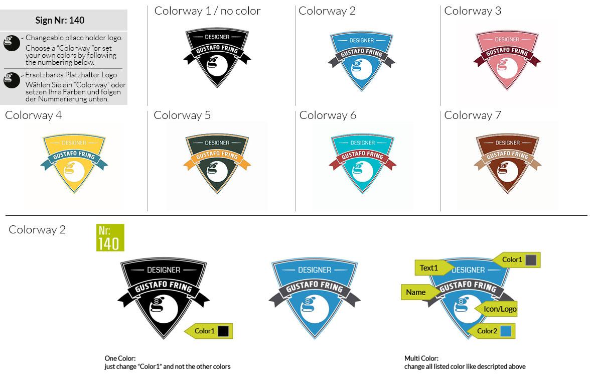 140 Make Look Branding Logo Smal Colorways 001