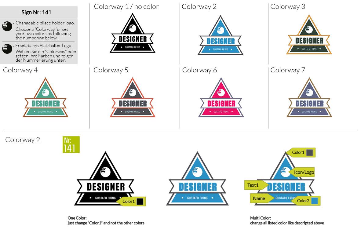 141 Make Look Branding Logo Smal Colorways 001