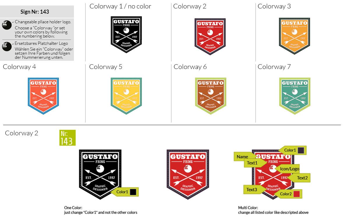 143 Make Look Branding Logo Smal Colorways 001