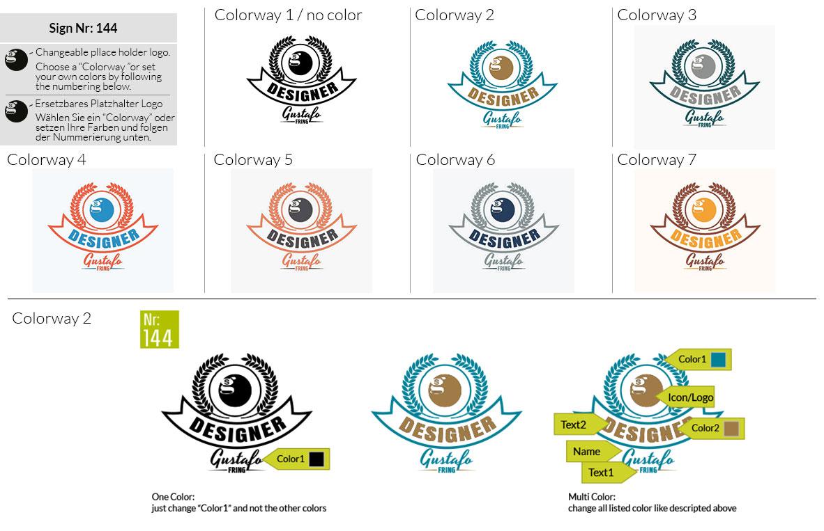 144 Make Look Branding Logo Smal Colorways 001
