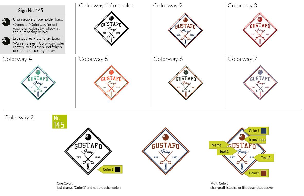 145 Make Look Branding Logo Smal Colorways 001
