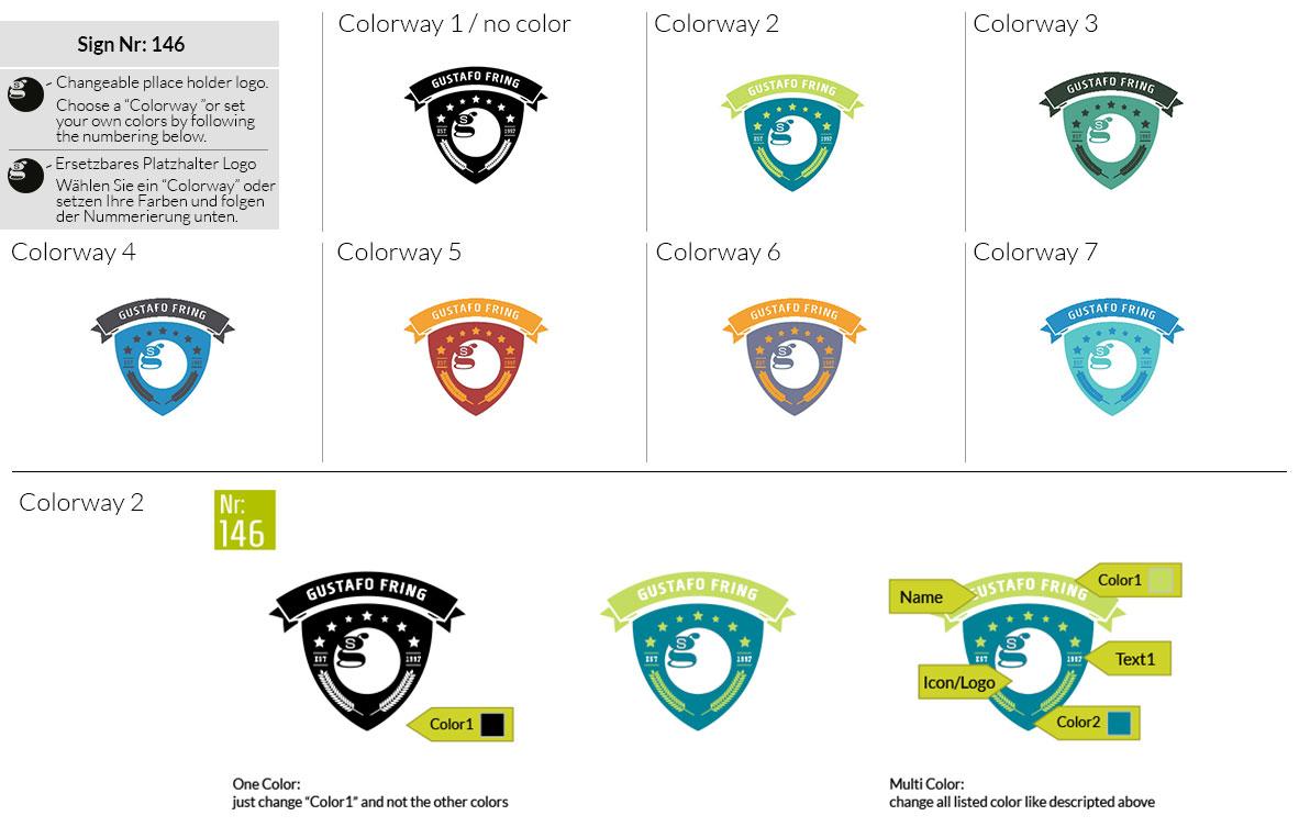 146 Make Look Branding Logo Smal Colorways 001