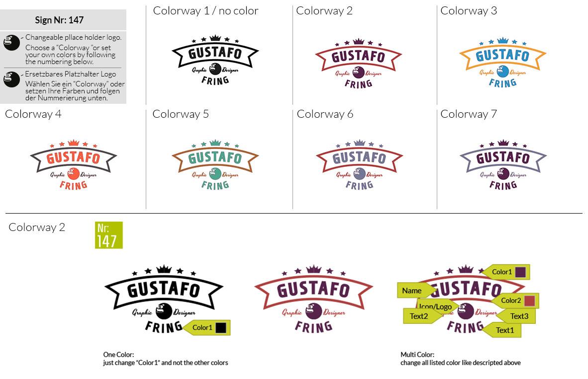 147 Make Look Branding Logo Smal Colorways 001